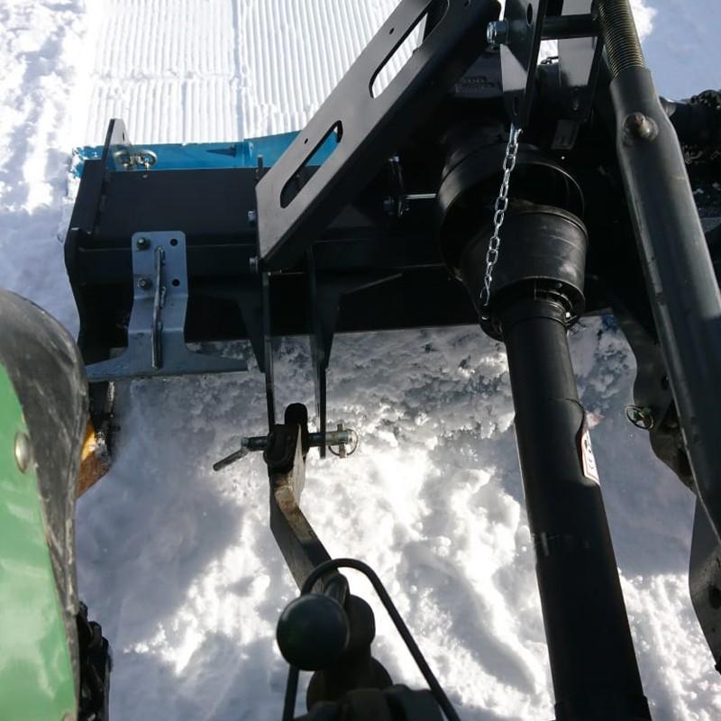 Ice tiller for winter trails